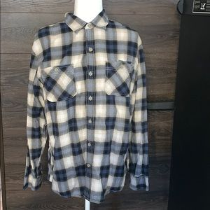 Converse long sleeve shirt size med plaid blue